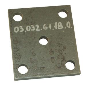 Aanlasplaat - 0303261180   5 x 21 mm   160 x 140 mm   120 x 101 mm