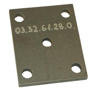 Aanlasplaat - 0303261280   4 x 21 mm   210 x 175 mm   120 x 101 mm