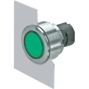 New-Elfin Verlichte drukknop groen arret - 030PPFLIV
