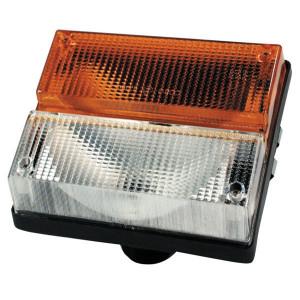 Breedtelamp Cobo - 03160000   links / rechts   Opbouw   188 mm   140 mm   100 mm   Orange / blanc   E3 A 35871, E3 1 35872