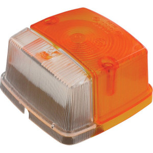 Lampglas voor Cobo - 03387001   Bouten worden meegeleverd   Orange / blanc