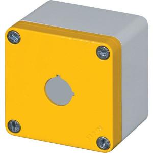 New-Elfin Aluminium drukknopkast - 040C08086GP1 | Gegoten nitrilrubber | IP66 CEI EN 60529 | RAL7016 | RAL7035 | 020 series | 65 mm