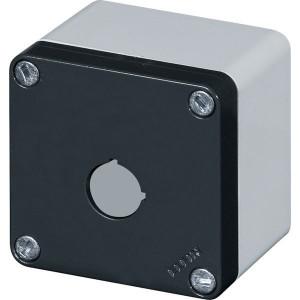 New-Elfin Aluminium drukknopkast - 040C08088P1 | Gegoten nitrilrubber | IP66 CEI EN 60529 | RAL7016 | RAL7035 | 020 series | 85 mm