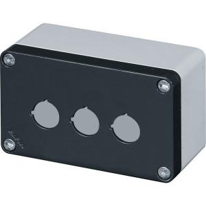 New-Elfin Aluminium drukknopkast - 040C08148P3L | Gegoten nitrilrubber | IP66 CEI EN 60529 | RAL7016 | RAL7035 | 020 series | 140 mm | 85 mm