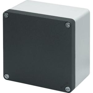 New-Elfin Aluminium drukknopkast - 040C14148 | Gegoten nitrilrubber | IP66 CEI EN 60529 | RAL7016 | RAL7035 | 140 mm | 140 mm | 85 mm