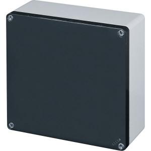 New-Elfin Aluminium drukknopkast - 040C20208 | Gegoten nitrilrubber | IP66 CEI EN 60529 | RAL7016 | RAL7035 | 200 mm | 200 mm | 85 mm