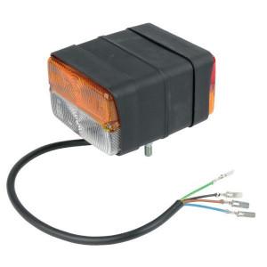 Lamp l/r Cobo - 04129000   zonder cabine   links / rechts   Opbouw   4 vlakstekker   4 flat connections   450 mm   120 mm   136 mm   2x M8x31mm