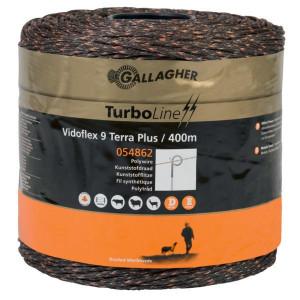 Gallagher Vidoflex 9 TurboLine Plus Terra 400m - 054862GAL | Voor lange afrasteringen | 3 mm | 6 mm