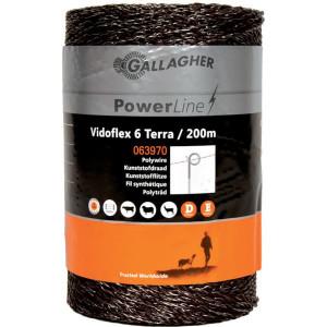 Gallagher Vidoflex 6 terra 200 m - 063970GAL | Uitstekende geleiding | 98 kg | 5,9 Ohm Ohm/m | 6 mm