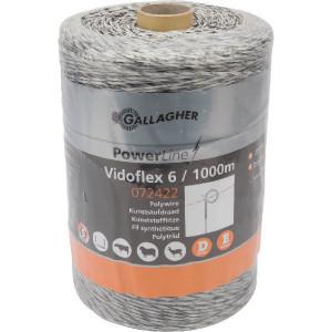 Gallagher Vidoflex 6 wit 1000m - 072422GAL | Uitstekende geleiding | 98 kg | 5,9 Ohm Ohm/m | 6 mm | 1.000 m