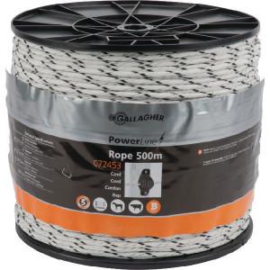 Gallagher PowerLine cord wit 500m - 072453GAL | Uitstekende geleiding | 5 mm