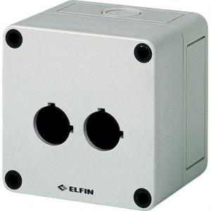 New-Elfin Drukknopkast,2 gat,22mm,H=57mm - 080CS09095P2 | 94 mm | 57 mm