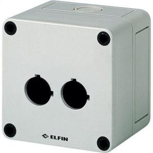 New-Elfin Drukknopkast,2 gat,22mm,H=81mm - 080CS09098P2 | 94 mm | 81 mm