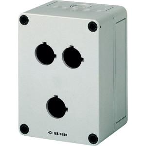 New-Elfin Drukknopkast,3gat,22mm,H=57mm - 080CS09135P3C | 130 mm | 57 mm
