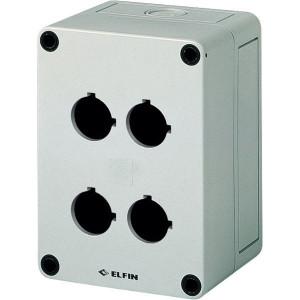 New-Elfin Drukknopkast,4gat,22mm,H=57mm - 080CS09135P4 | 130 mm | 57 mm