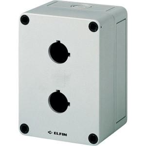 New-Elfin Drukknopkast,2gat,22mm,H=81mm - 080CS09138P2 | 130 mm | 81 mm
