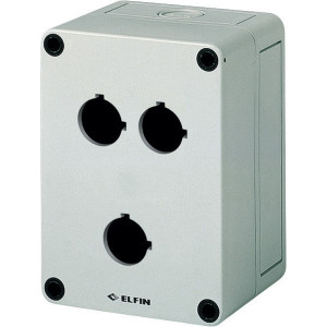 New-Elfin Drukknopkast,3gat,22mm,H=81mm - 080CS09138P3C | 130 mm | 81 mm