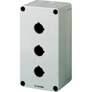 New-Elfin Drukknopkast,3gat,22mm,H=57mm - 080CS09185P3 | 180 mm | 57 mm