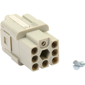Harting Busconn. Q 7/0 krimpklem - 09120073101 | Polycarbonaat | Krimpklem | Han® Q | 7/0 + ⏚ | 0,14 2,5 mm²