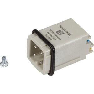 Harting Penconn. A 3P Quick Lock - 09200032633   Polycarbonaat   Quick lock®   Han® A   3 + ⏚   230 / 400 V   0,5 2,5 mm²