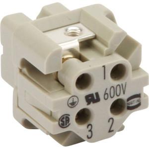 Harting Busconn. A 3P schroefklem - 09200032711   Polycarbonaat   Schroefklem   Han® A   3 + ⏚   230 / 400 V   0,75 1,5 mm²   schroef   230/400V V
