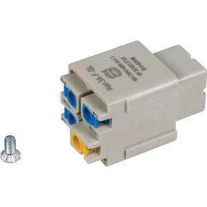 Harting Busconn. A 3P Quick Lock - 09200032733   Polycarbonaat   Quick lock®   Han® A   3 + ⏚   230 / 400 V   0,5 2,5 mm²