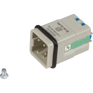 Harting Penconn. A 4P Quick Lock - 09200042633 | Polycarbonaat | Quick lock® | Han® A | 4 + ⏚ | 230 / 400 V | 0,5 2,5 mm²
