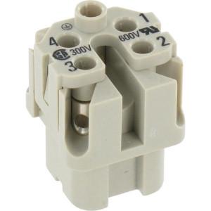 Harting Busconn. A 4P schroefklem - 09200042711 | Polycarbonaat | Schroefklem | Han® A | 4 + ⏚ | 230 / 400 V | 0,75 1,5 mm² | schroef | 230/400V V