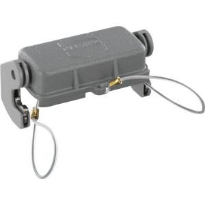 Harting Afdekkap 10A met 1 klemhaak, metaal - 09200105423   Voor chassisdeel   Han® A   1 klemhaak   IP67 IP   Aluminium   Met koord