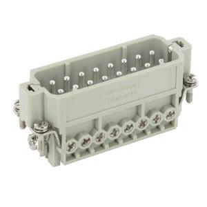 Harting Stiftinzetstuk A 16P schroefaansl. 1-16 - 09200162612 | Polycarbonaat | Schroefklem | Han® A | 16 + ⏚ | 0,75 2,5 mm²