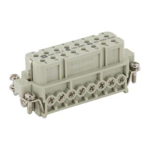 Harting Businzetstuk A 16P bout - 09200162812 | Polycarbonaat | Schroefklem | Han® A | 16 + ⏚ | 0,75 2,5 mm²