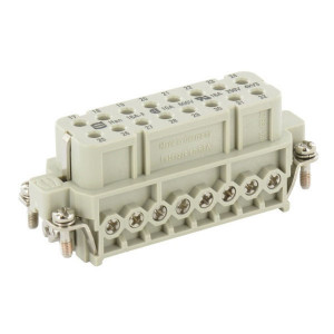 Harting Busconn. A 16P schroef 17-32 - 09200162813 | Polycarbonaat | Schroefklem | Han® A | 16 + ⏚ | 0,75 2,5 mm²