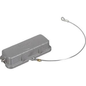 Harting Afdekkap 16A met 2 nokken, metaal - 09200165425   Voor koppelhuis   Han® A   2 nokken   IP65 IP   Aluminium   Met koord