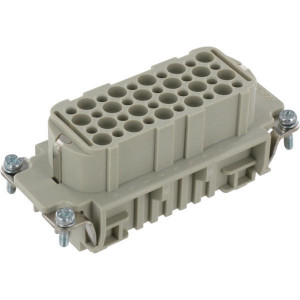 Harting Businzetstuk D 40P - 09210403101 | Krimpklem | Han® D | 40 + ⏚ | 0,14 2,5 mm²