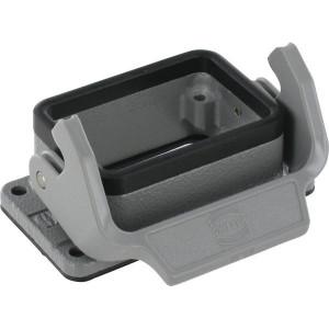 Harting Chassisdeel inbouw 6B - 09300060301 | Huis, inbouw | Lage bouwvorm | Han® B | 1 klemhaak | IP65 IP | Aluminium | 80x43.5x28.5 mm