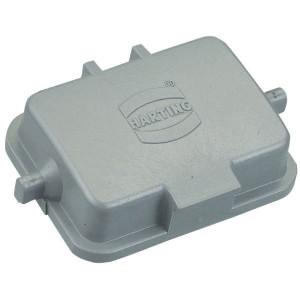 Harting Afdekkap 6B met 2 nokken, kunststof - 09300065404   Voor chassisdeel   Han® B   2 nokken   IP65 IP   Kunststof   Beschermkap   62.5x46.5x17.5 mm