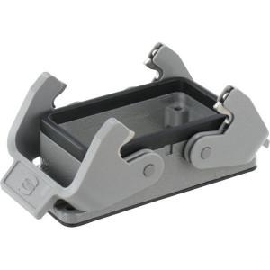 Harting Chassisdeel inbouw 10B - 09300100301 | Huis, inbouw | Lage bouwvorm | Han® B | 2 klemhaken | IP65 IP | Aluminium | 93x43x28,5 mm
