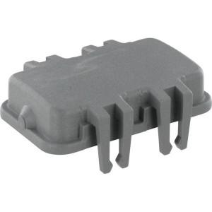 Harting Afdekkap 10B met 4 clips, kunststof - 09300105401   Afdekkap met clips   Han® B   4 clips   Polycarbonaat   74x45 mm
