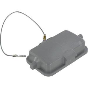 Harting Afdekkap 10B met 2 nokken, kunststof - 09300105412   Voor koppelhuis   Han® B   2 nokken   IP65 IP   Met koord