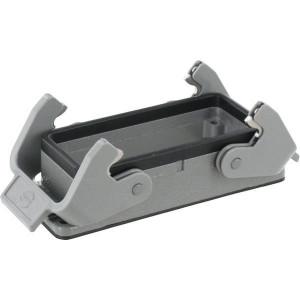 Harting Chassisdeel inbouw 16B - 09300160301 | Huis, inbouw | Lage bouwvorm | Han® B | 2 klemhaken | IP65 IP | Aluminium | 113x43x28.5 mm