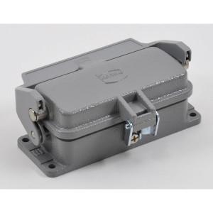 Harting Chassisdeel inbouw 16B - 09300160318 | Huis, inbouw | Lage bouwvorm | Han® B | 1 klemhaak | Metaal | IP65 IP | Aluminium | 113x43.5x28.5 mm