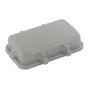 Harting Afdekkap 16B, 4 nokken - 09300165405   Voor chassisdeel   Han® B   4 nokken   IP65 IP   Polycarbonaat   94.5x45 mm
