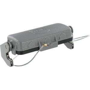 Harting Afdekkap 16B met 1 klemhaak, metaal - 09300165432   Voor huis   Han® B   1 klemhaak   IP65 IP   Aluminium   Met koord