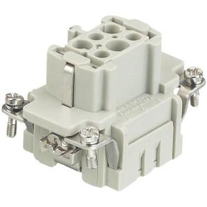 Harting Busconn. E 6P krimpklem - 09330062702   Polycarbonaat   Krimpklem   Han® E   6 + ⏚   0,14 4 mm²   Binnenwerk