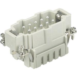 Harting Penconn. ES 10P veerklem - 09330102616 | Polycarbonaat | Veerklem | Han® ES | 10 + ⏚ | 0,14 2,5 mm² | Binnenwerk | veerklem