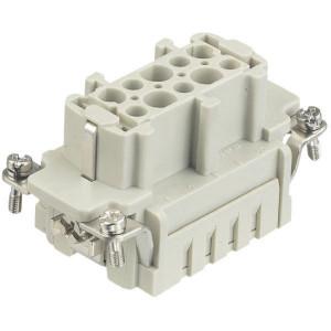 Harting Busconn. E 10P krimpklem - 09330102702 | Polycarbonaat | Krimpklem | Han® E | 10 + ⏚ | 0,14 4 mm² | Binnenwerk