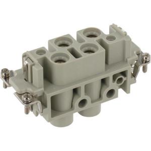 Harting Busconn. K 4/0 schroefklem - 09380062711   Polycarbonaat   Schroefklem   Han-Com®   4/0 + ⏚   1,5 16 mm²