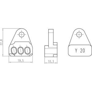 Harting Krimptangbek 0021 Han-Yellock® - 09990000343 | Han-Yellock®