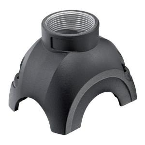Harting Stekkerkap Yell. 30, M25 boveninv. - 11123001401 | Voor 3 modules | Han-Yellock® | 2 schroeven | M 25 x 1,5 Recht | IP65 / IP67 IP | Aluminium