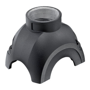 Harting Stekkerkap Yell. 30, M32 boveninv. - 11123001402 | Voor 3 modules | Han-Yellock® | 2 schroeven | M 32 x 1,5 Recht | IP65 / IP67 IP | Aluminium
